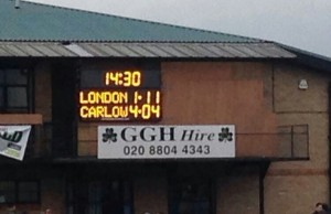 Carlow V London Scoreboard