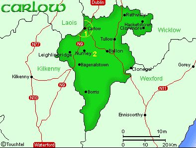 Map of Carlow
