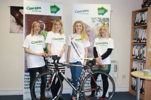 PHOTO  L-R:  Natalie Jones (Run), Carla Thompson (Swim), London Rose Grace Kenny and Mila Robinson (Cycle) .