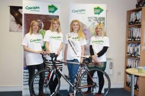 PHOTO  L-R:  Natalie Jones (Run), Carla Thompson (Swim), London Rose Grace Kenny and Mila Robinson (Cycle) .