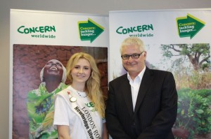 Grace with Brian O'Connell, Special Projects manager Concern Wprldwide (UK)